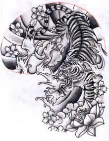 Tiger Half Sleeve Tattoo Drawings