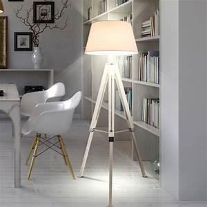 3 Bein Lampe : design steh lampe schlaf zimmer holz lese decken fluter ~ Whattoseeinmadrid.com Haus und Dekorationen