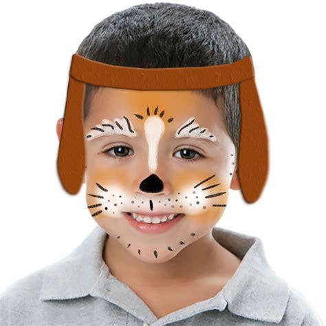 masque rituel à tête de fils des histoires maquillage petit ourson