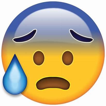 Emoji Face Sweat Cold Emojis Scared Emoticon