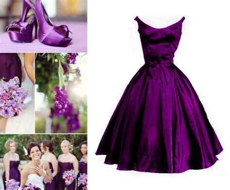 Custom Make Plum Purple Vintage Puffy Bridesmaid Dress