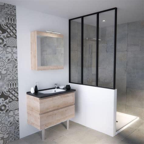 meuble vasque de salle de bain avec tiroirs pour petits espaces smart tiroirs chene vert