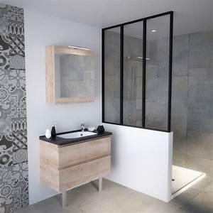 meuble vasque de salle de bain avec tiroirs pour petits With meuble salle de bain petit espace