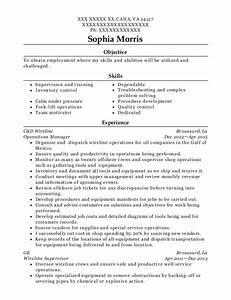 Resume Certified Nursing Assistant Best Wireline Operator Resumes Resumehelp