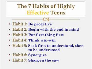 Informational Text/Seven Habits of Highly Effective Teens ...