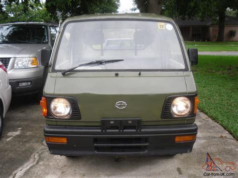 subaru sambar 1988 subaru sambar mini truck army green