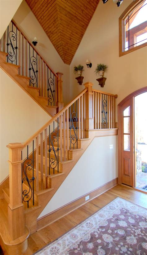 rawd iron railing interior designs that revive the wrought iron railings