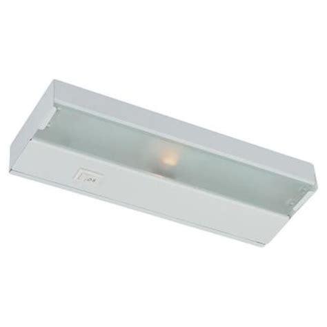 home depot under cabinet lighting thomas lighting 18 in xenon matte white under cabinet