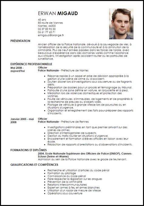exemple cv officer de livecareer