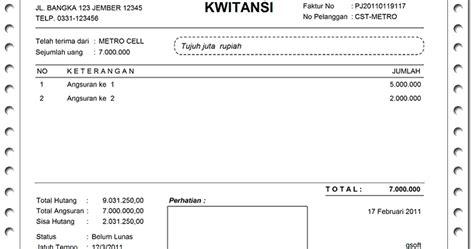 contoh format kwitansi dalam bahasa inggris contoh ata