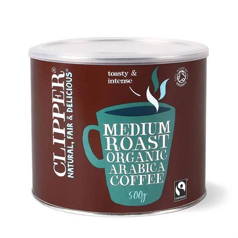 People talk about ciabatta bread, tomato bisque and blueberry scone. Clipper Arabica Roast Medium Coffee 500g | Next Day Delivery