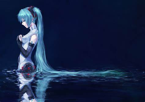 We have 83+ background pictures for you! Wallpaper : anime girls, blue hair, Vocaloid, Hatsune Miku, underwater, detached sleeves ...