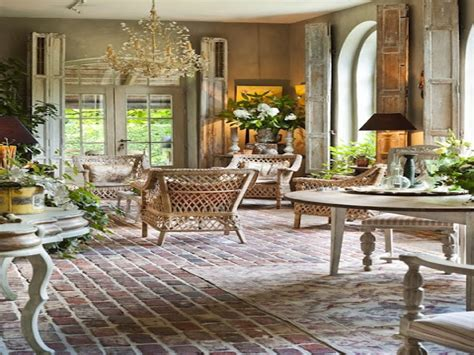 French Room Decor, French Country Brick Flooring French