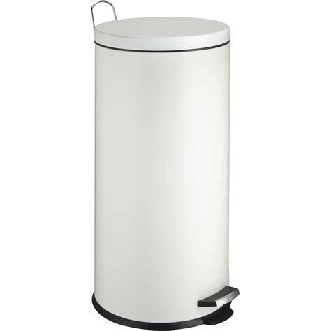 poubelle de cuisine blanche poubelle de cuisine à pédale frandis métal blanc 30 l