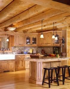 Log Cabin Kitchen Images by Modern Log Home Kitchen Log Home Ideas