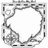 Treasure Map Blank Pirate Maps Clipart Vector Coloring Maze Dora Printable Visit sketch template
