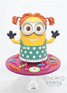 Minion Dave In Drag! - CakeCentral com