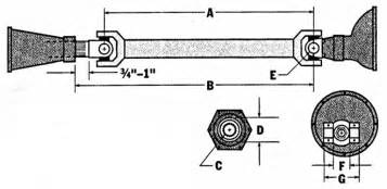 1968 camaro length drive shaft basics