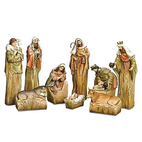 roman inc 9 piece nativity set with driftwood finish