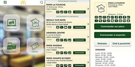 commande cuisine en ligne commander mcdo depuis smartphone
