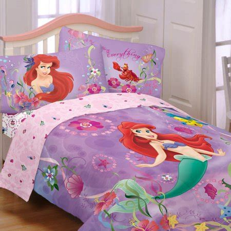 mermaid comforter set disney s mermaid sea reversible comforter