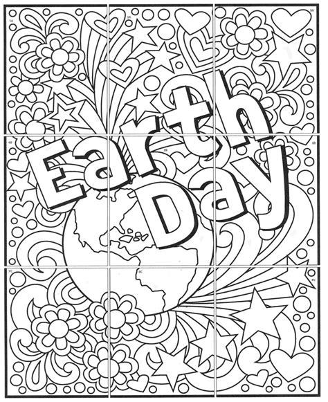 mini earth day mural art projects  kids
