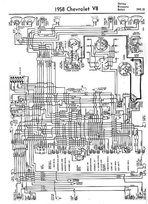 1958 chevrolet wiring diagrams 1958 classic chevrolet