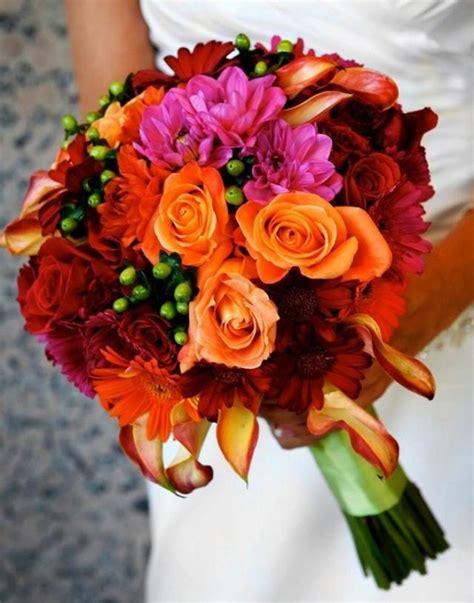 Wedding Nail Designs Bridal Bouquets Bright And Bold