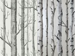 Papier Peint Arbre Noir Et Blanc : 1 objet 2 budgets le papier peint cole and son versus celui de castorama elle d coration ~ Nature-et-papiers.com Idées de Décoration