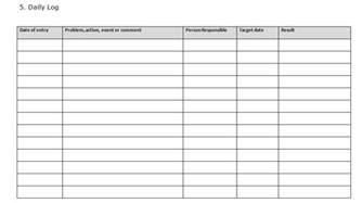 Log Sheet Template Excel Daily Log Sheet Excel Images