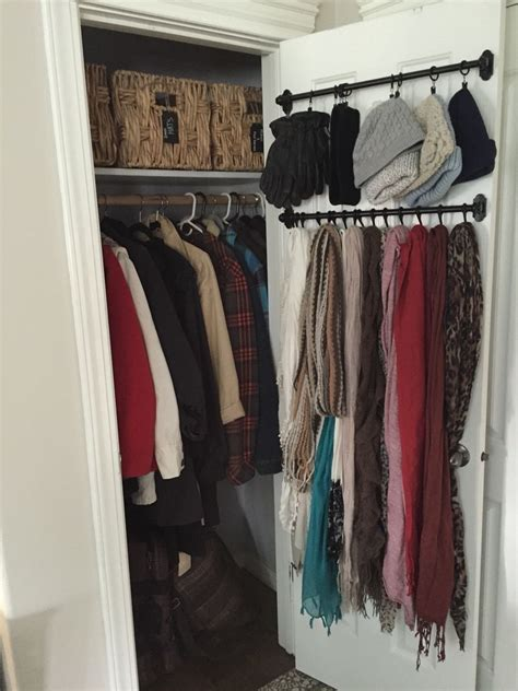 jacket storage ideas small coat closet organizing outerwear in a compact space no mudroom no problem for the