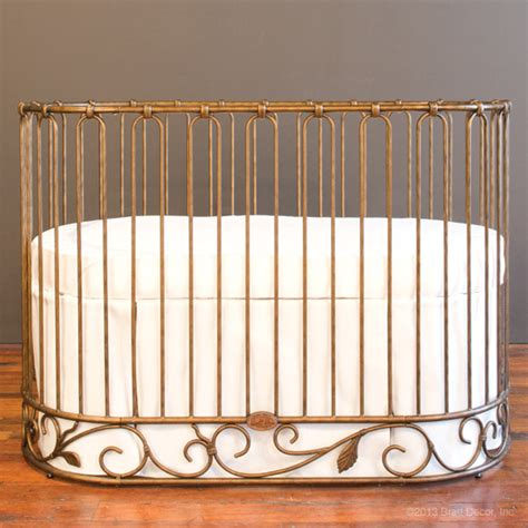 Bratt Decor Crib Gold by Jadore Crib Cradle Vintage Gold