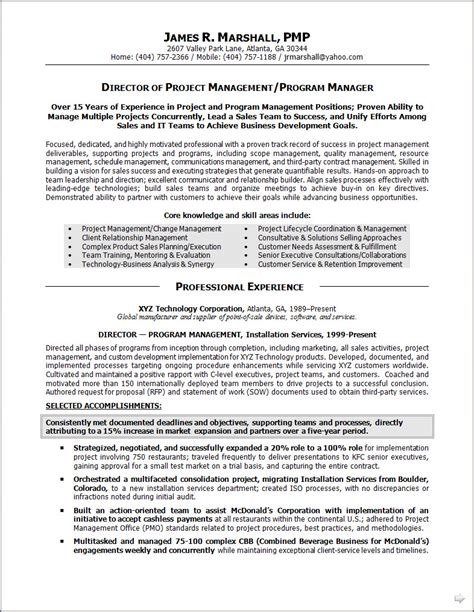 Senior Project Manager Resume Summary by Project Management Strong Resume Summary Statements