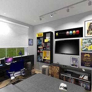 Gaming Zimmer Deko : die besten 25 gamer zimmer ideen auf pinterest minimalistische spielzimmerm bel gamer ~ Markanthonyermac.com Haus und Dekorationen