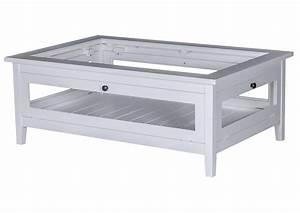 Table Basse Blanche Et Verre : acheter votre table basse carr e en pin massif blanche ~ Preciouscoupons.com Idées de Décoration