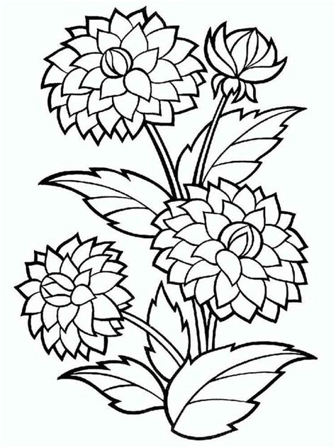 gambar mewarnai bunga untuk anak tk sd dan paud