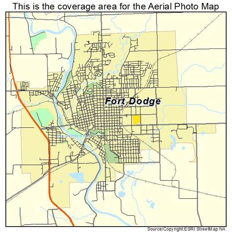 C Dodge Map by Aerial Photography Map Of Fort Dodge Ia Iowa