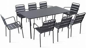 Table De Jardin Bois Et Metal : table de jardin metal table chaise jardin maison boncolac ~ Teatrodelosmanantiales.com Idées de Décoration