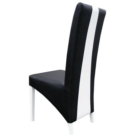 chaise noir et blanc chaise moderne noir et blanc en pu erica lot de 2