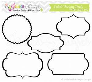 INSTANT DOWNLOAD label variety pack digital frames