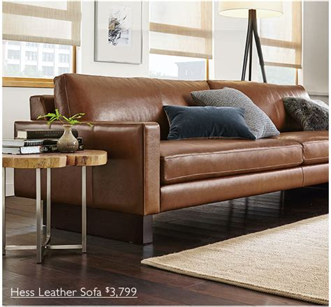 room and board leather sofa room and board leather