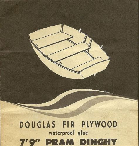 Boat Building Douglas Fir by Vintage Boat Building Plan Pram Dinghy 7 9 Douglas Fir