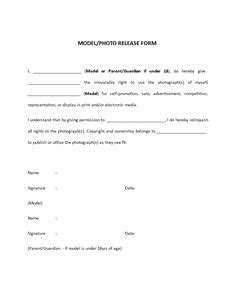 20461 model release form free generic photo copyright release form pdf eforms
