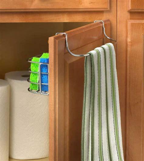 Over Door Towel Rack with Basket in Cabinet Door Organizers
