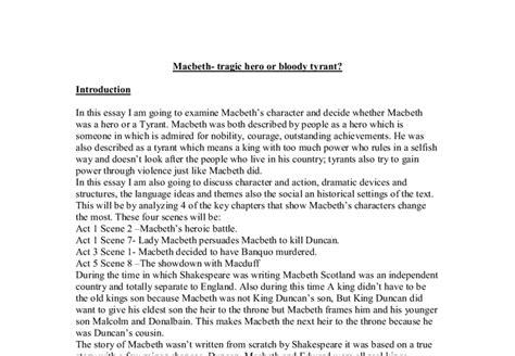 Macbeth Tragic Essay Thesis by Was Macbeth A Tragic Essay Facebookthesis Web Fc2