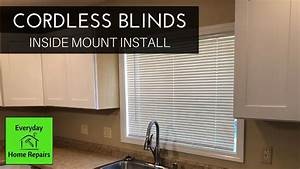 Installing Cordless Blinds