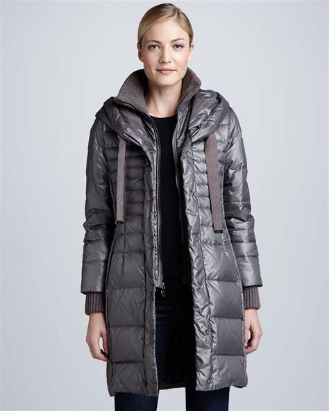 Lyst - Elie tahari Paula Hooded Puffer Coat in Gray