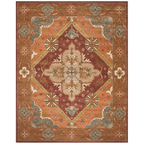 4 ft area rugs safavieh heritage rust 4 ft x 6 ft area rug hg948a 4