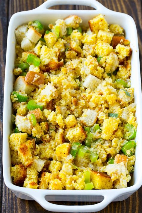 Place half of the cornbread mixture in the prepared baking dish. Recipes For Leftover Cornbread Dressing : We Southerners love cornbread dressing. I make it from ...