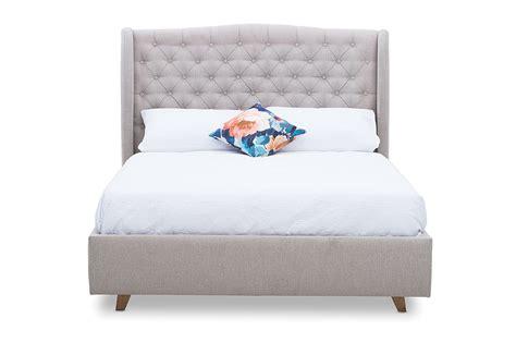 aragon fabric queen bed amart furniture